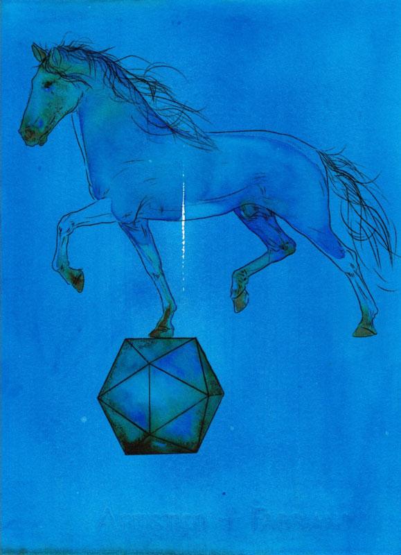 Sasha Vinci | Alter / 2016 / Inchiostri naturali su carta cotone / 38,5x28 cm