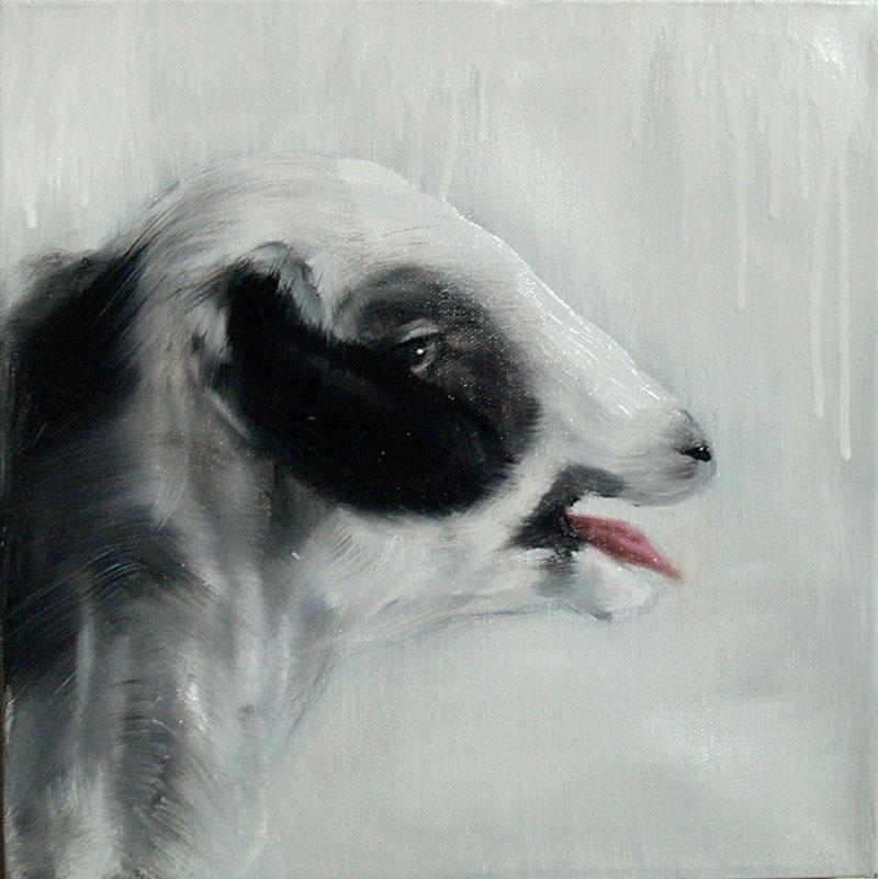 Tiziana Pers | B.S.L. - LINA / Oil on canvas / 30x30 cm / 2011