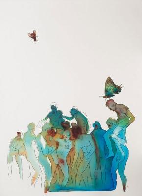 Sasha Vinci | Inganni Contemporanei / 2014 / Inchiostri naturali su carta cotone / 56x77 cm