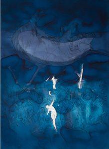 Sasha Vinci | Abgrund / 2014_Inchiostri naturali su carta cotone / 60x80 cm