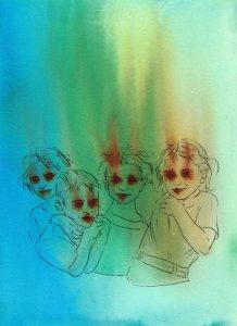 Sasha Vinci | Siria n.3 / 2016 / Tecnica mista su carta cotone / 28x38,5 cm